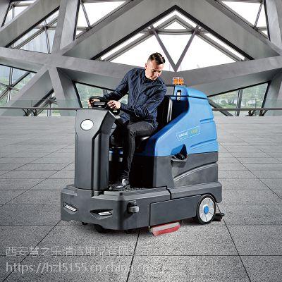 西安洗地机十大品牌|容恩R180大型洗地车|大驾驶洗地车|大型停车场洗地机