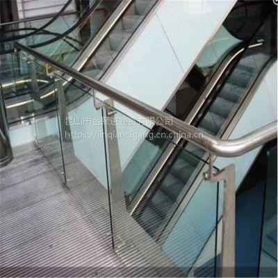 金聚进 316不锈钢玻璃护栏 不锈钢室外玻璃立柱