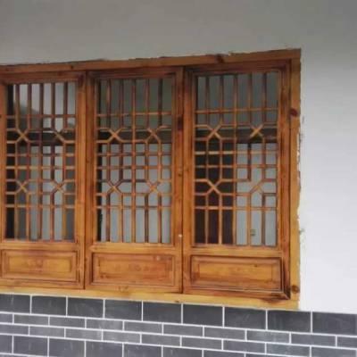 成都定做仿古格子门窗厂家 雕花门窗定制厂家