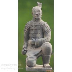 西安仿古兵马俑跪射俑批发办公摆设兵马俑 工艺礼品