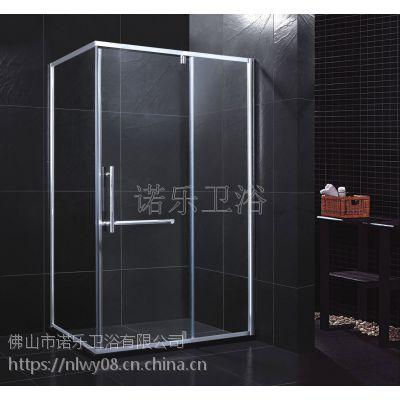 铝合金一字形简约淋浴房 款式简约 容易打理 是您的不二选择 值得购买