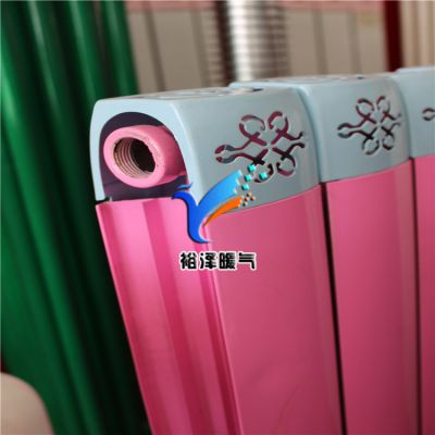 铜铝复合暖气片TLF400/75×75散热器裕泽加工定制