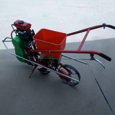 汽油自走式单行花生精播机 圣鲁牌施肥播种机