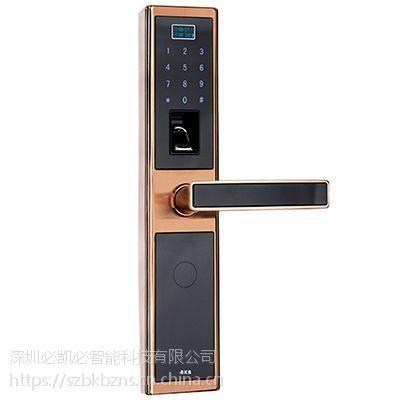 K-1389指纹密码锁(咖啡金)-智能锁供应-深圳必凯必