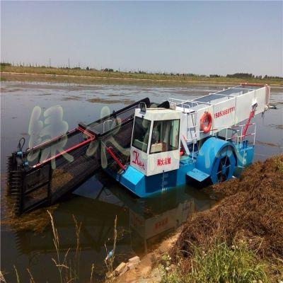 四川乡镇河道水花生清理设备,景区水浮莲打捞机械,水库水面垃圾保洁船