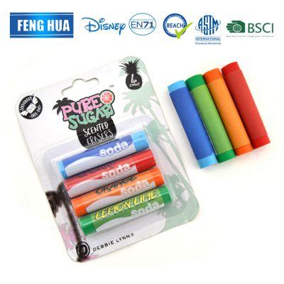 开学季新款橡皮擦圆柱型橡皮擦四个装入吸塑卡 颜色可定制可包邮