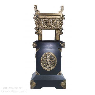 落地青铜鼎摆件,送公司开业的大摆件制作,上海制作摆件礼品的厂家