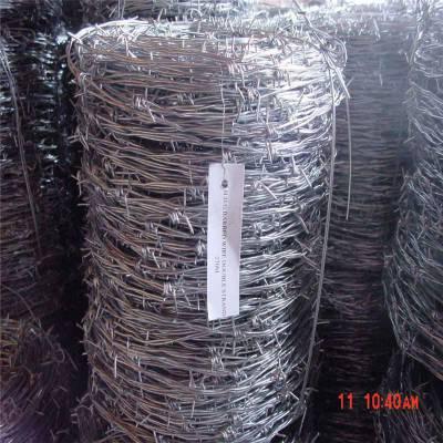 热镀锌刺绳 刺绳护栏网 铁刺线立柱