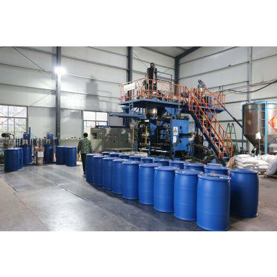 泓泰引进200L双层HDPE塑料桶外蓝内白更卫生安全