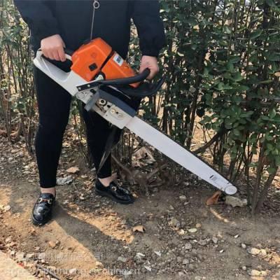 画圈挪树机 润丰 切入土地内用起树机 链条汽油挖树机