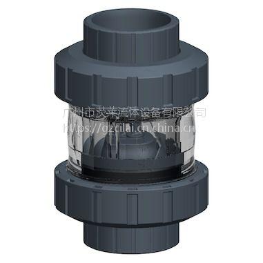 一级代理 瑞士+GF+ 561型 PVC-U 球形止回阀 广州茨莱