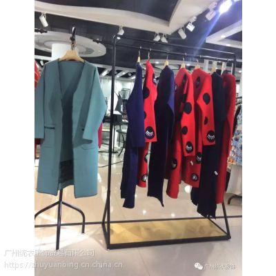 当季新品 羊绒风衣 女装折扣批发 品牌女装批发折扣 100% 韩版 实拍有模特