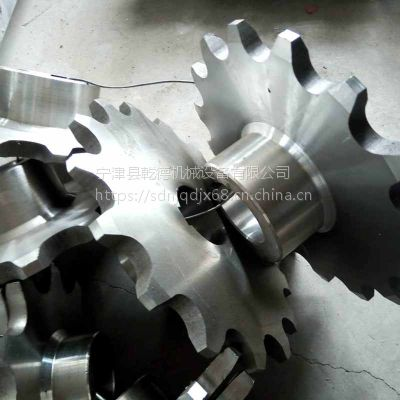 江苏不锈钢链轮厂 非标sus304工业链轮定制 乾德强硬度使用寿命长
