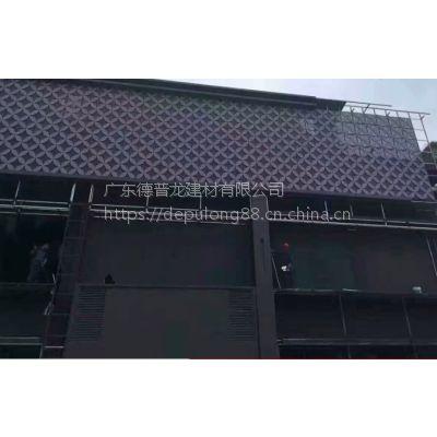 珠海市牌匾氟碳喷涂柳叶孔双层铝单板_四叶草扭曲铝板加工厂