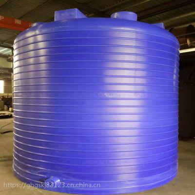 桶体采用进口聚乙烯原料一次成型储罐 15吨大型水塔 耐腐蚀水塔滚塑容器