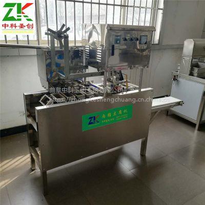 不锈钢大型盒装豆腐机 自动打码时产600盒内酯豆腐机生产线厂家