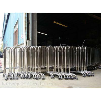 使用方便快捷,随处移动,制作工艺,氩弧焊焊接技术和抽芯弯管机一次弯管成许昌不锈钢围栏厂家直销价格优惠
