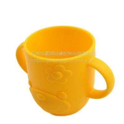 开模定制婴童硅胶用品 婴幼儿防摔喝水杯 软硅胶儿童漱口杯