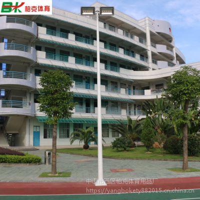 鹤山学校篮球场专用6米灯杆灯柱 7人制足球场灯杆配置 柏克高杆灯定制