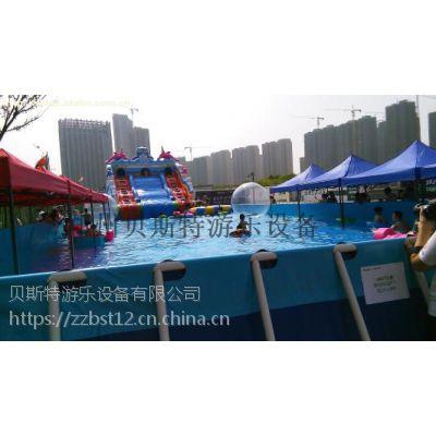 北京水上乐园pvc夹网布组合滑梯贝斯特厂家保证质量款式多样