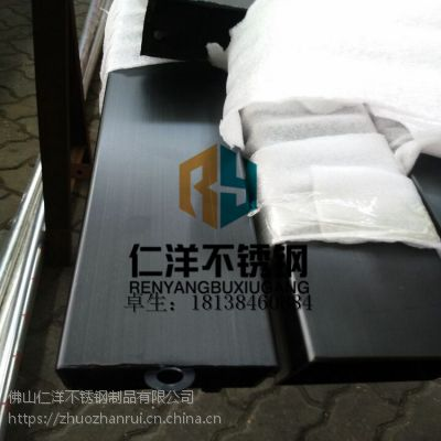 供应304不锈钢彩色管水镀钢管玫瑰金无指纹状豪华压花镀铜装饰管定制