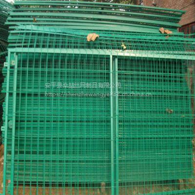 燊喆供应浸塑框架护栏网 光伏发电厂浸塑围栏 绿色圈地带边框防护围网