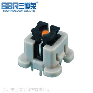 三博荣SBR-进口带led灯轻触开关 双色带灯自锁按键开关 带外壳