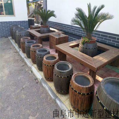 江苏水泥仿木组合树围凳桌椅 耐腐蚀水泥仿木花箱