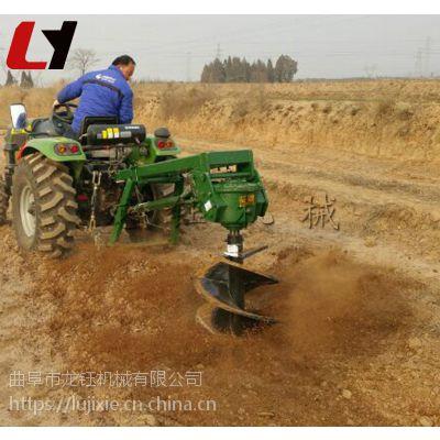 多功能手推式植树挖坑机 质保手提式电线杆挖坑机