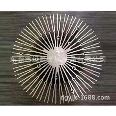 CNC生产精加工工业异型铝材散热片太阳花 6061 6063铝型材高品质精密加工