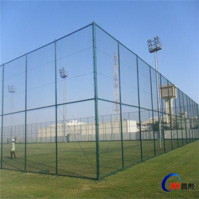 安平体育场护栏网厂家 学校球场防护网 绿色浸塑围栏可定制
