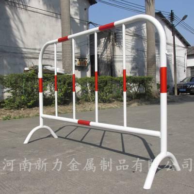 镀锌管黄黑铁马护栏 烤漆红白施工隔离栏围栏 道路交通临时移动护栏 河南新力