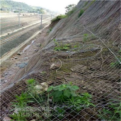 危岩主动式防护网热镀锌钢丝绳厂家#φ7.2孔300*300主动式防护网#边坡治理工程