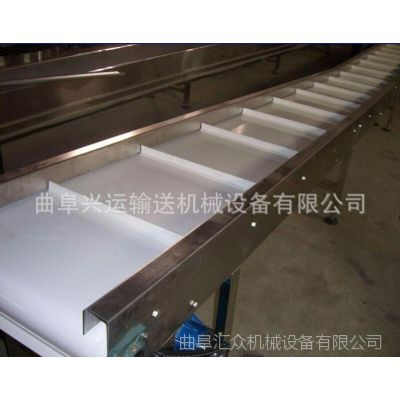 灰渣自动装箱输送机 V型槽防滑升降式输送机
