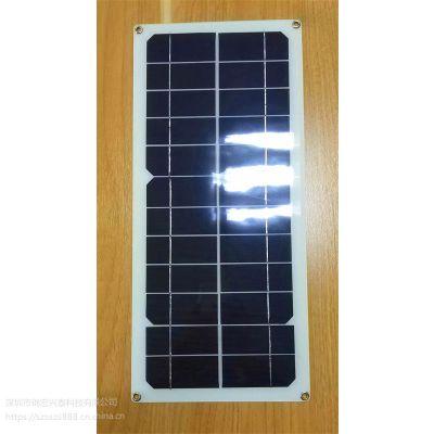 JHXT太阳能发电板 10W单晶高效超薄太阳能板 户外便携式