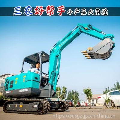 云南小挖机价格 【能按炮头的小型挖掘机】小勾机