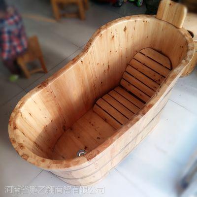 浴桶是如何制造的?洗澡木桶厂家鹏乙翔pyx038款香柏木桶批发洗澡木桶价格