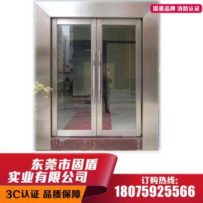 南宁市乙级青古铜不锈钢防火玻璃门标识齐全