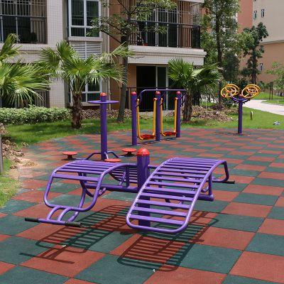 东莞供应紫加黄健身路径 114管健身器材定制款 雅浩来图定制儿童锻炼器材