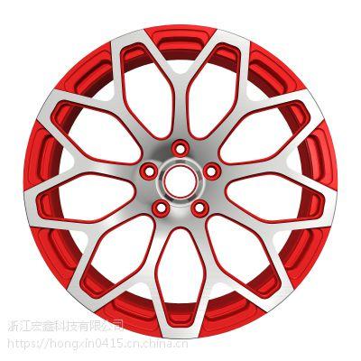 宏鑫牌锻造轿车轮毂T6061热处理毛坯售后改装市场轻量化客车轮