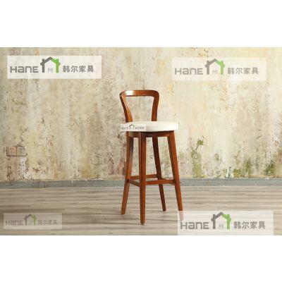 上海西餐厅吧椅定制 韩尔家具品牌