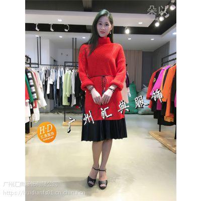 环球国际商贸中心朵以17冬装时尚风衣外套品牌折扣服装走份批发