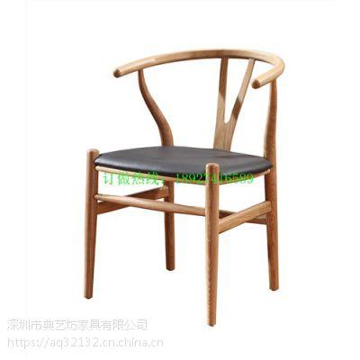西餐厅椅子 西餐厅椅子实木凳子 原木色西餐厅椅子 典艺坊供