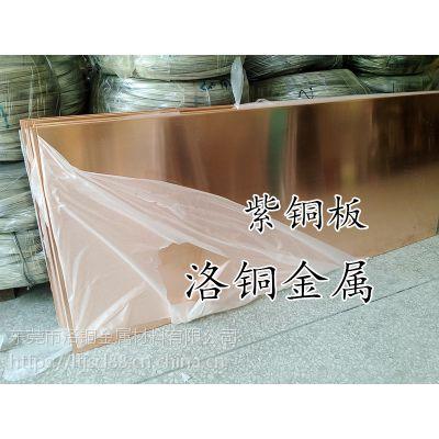 含铜量99.99%紫铜板 TU2无氧紫铜板 抛光镜面紫铜板 激光切割