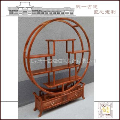厂家定制古典中式家具、客厅、书房博古架