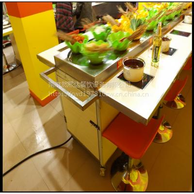 然熙达旋转火锅设备根据店面设计回转火锅设备优化合理布局