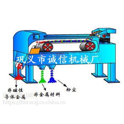 诚信铜铝涡流分选机选空调加热器碎料中金属质量硬选得净