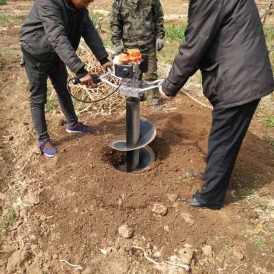 4冲程汽油双人挖坑机 动力强劲 植树挖坑机 小型地钻机