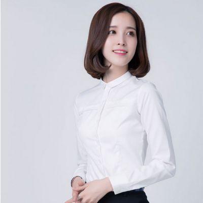 春季新款职业OL正装女装2017新款白色衬衫女长袖工装女士衬衣