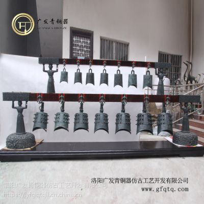 仿古青铜器曾侯乙编钟工艺品摆件古乐器可定做